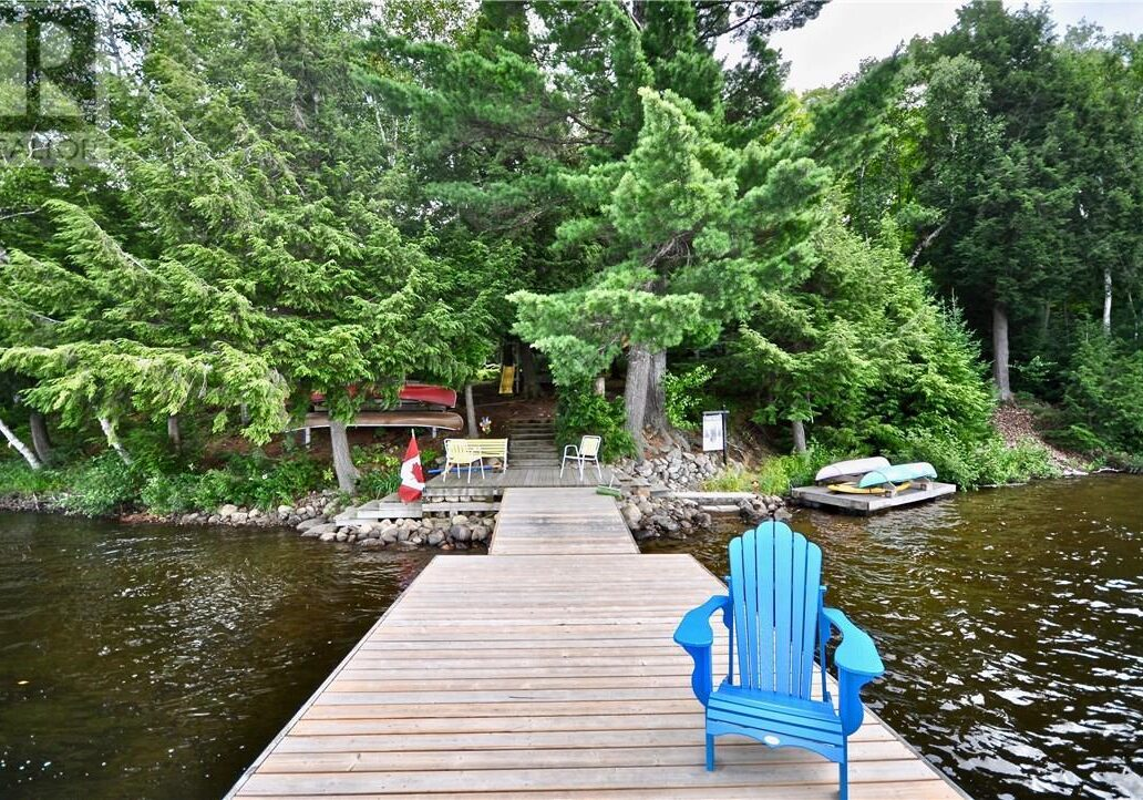 Cottage for Sale in Kearney view from the dock